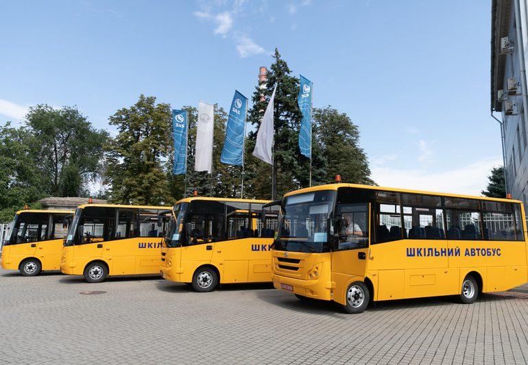 Запорізький автозавод презентував серію шкільних автобусів