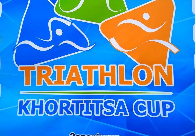 В Запорожье прошли соревнования по триатлону (фото, видео)