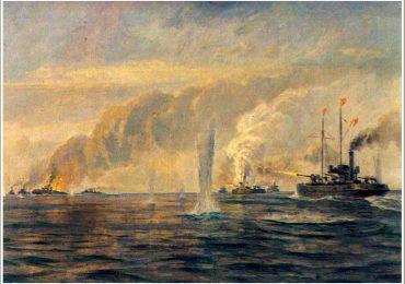 Морской бой у Обиточной косы с участием 14 кораблей
