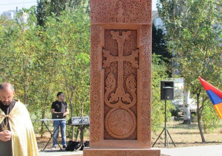 В Бердянске освящен хачкар – главный символ армянских христиан