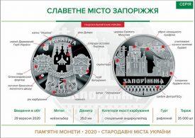 Нацбанк Украины выпустил монету «Славетне місто Запоріжжя»