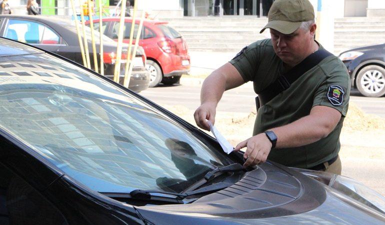 В Запорожье проверили правильность парковки на центральном проспекте
