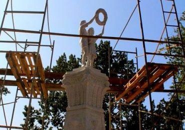 В Запорожье продолжается реконструкция сквера «Пионеров» (фото, видео)