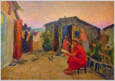 На картину с видом Бердянска не нашлось покупателя