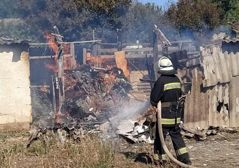 Вогнеборці ліквідували пожежу у Василівському районі