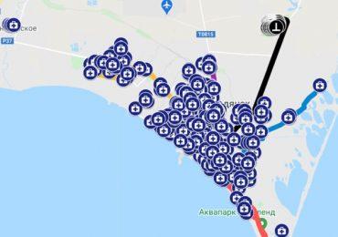 В Бердянске медики нанесли на гугл-карту адреса заболевших коронавирусом