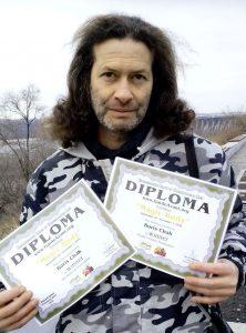 Борис Чак с дипломами Салона в Филадельфии фото