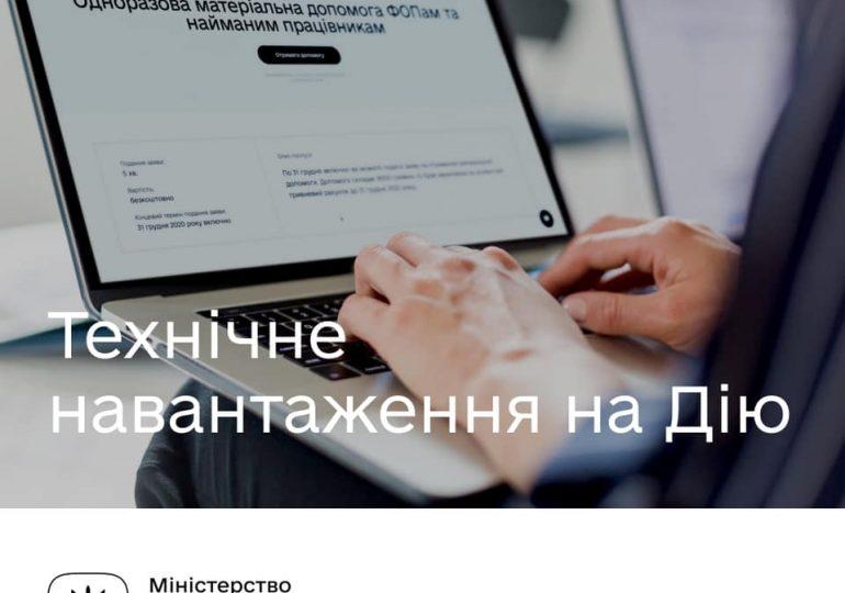"""Выплаты ФОПам: в работе """"Дії"""" возможны перебои из-за большой нагрузки"""
