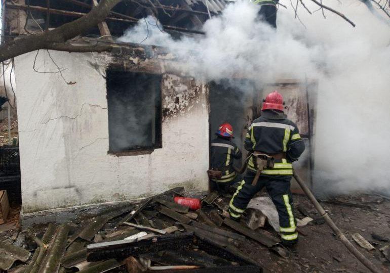 На пожежі у Малій Білозерці травмувався  38-річний чоловік