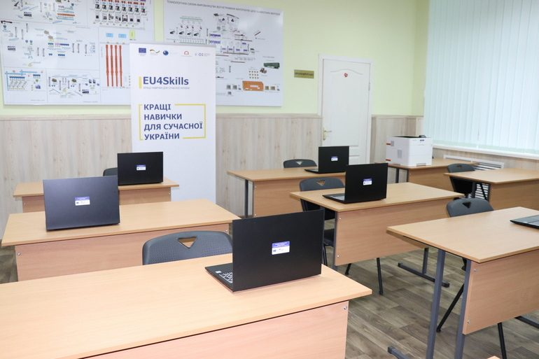 Два профтехи Запорізької області отримали від EU4Skills обладнання для дистанційного навчання