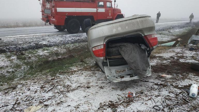 У Чернігівському райні перевернулася автівка