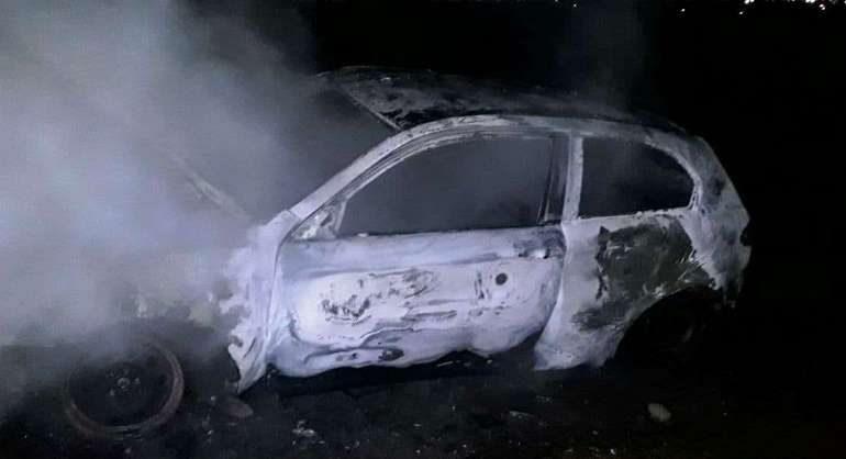 У Мелітополі горіла Alfa Romeo