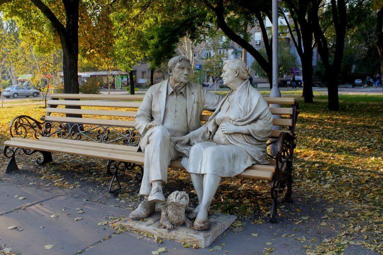 Памятник родителям на Профсоюзов фото