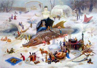 Казацкое Рождество возле Запорожского дуба
