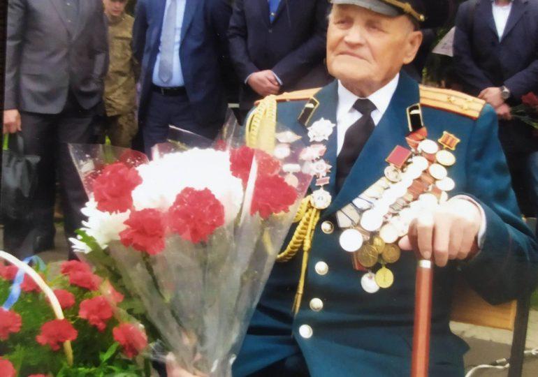 Запорожский ветеран-фронтовик отмечает 95-летие